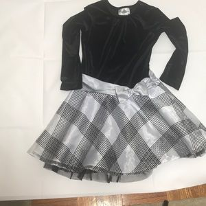 Rare Editions black and silver swing dress